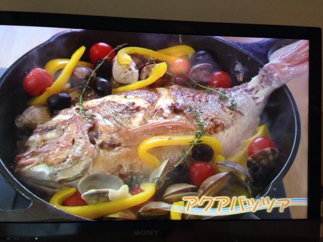 新鮮魚介類のアクアパッツァ