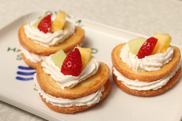 パイ菓子で簡単!ミルフィーユ風おやつ