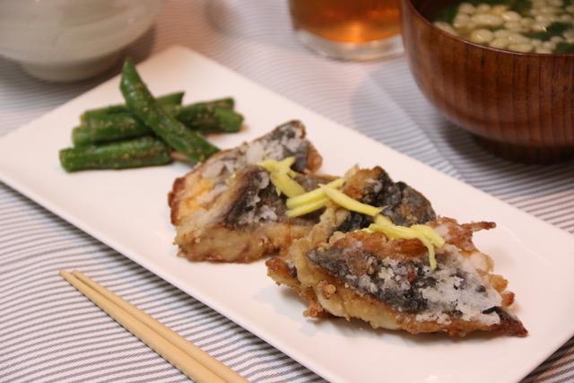 さわらの竜田揚げ&インゲンの胡麻和えレシピ