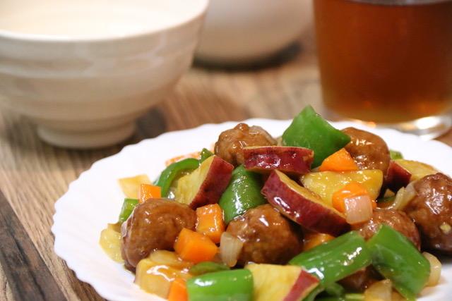 肉団子で時短☆ゴロゴロ野菜の酢豚を作ってみた!