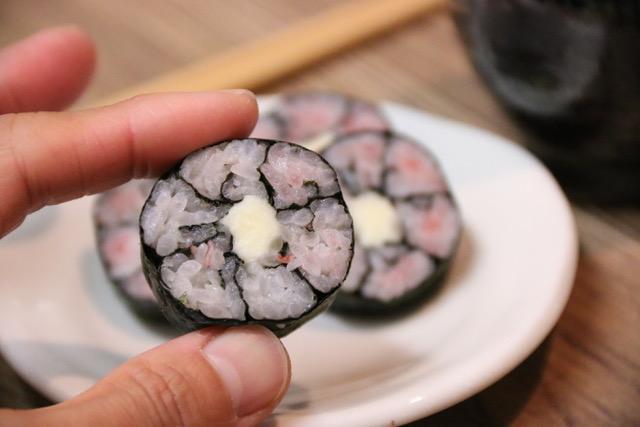 サクラのお花寿司を、オニギリ海苔で作ってみた!